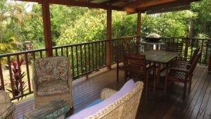 The Blue House Yungaburra Holiday House Deck