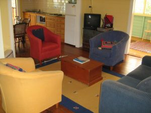 The Blue House Yungaburra Holiday House Living area